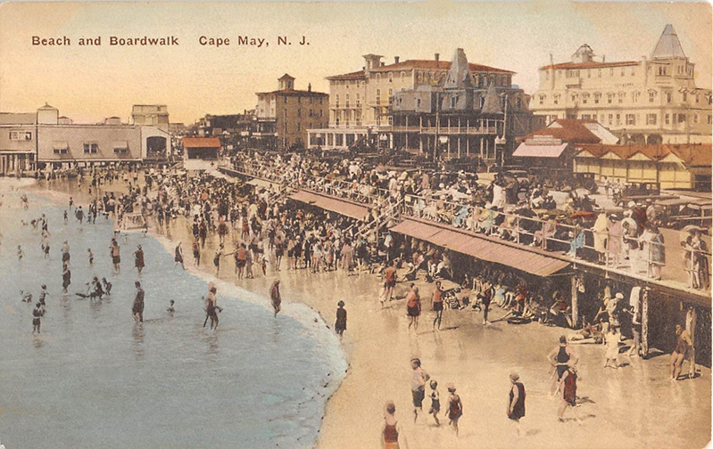 The Beach at Cape May around 1929
